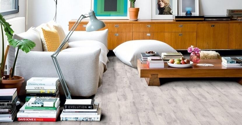 Imagen del suelo laminado color gris